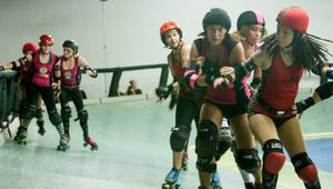 Teams Bombshells and Brutal Beauties, in the Arizona Derby Dames roller derby league.