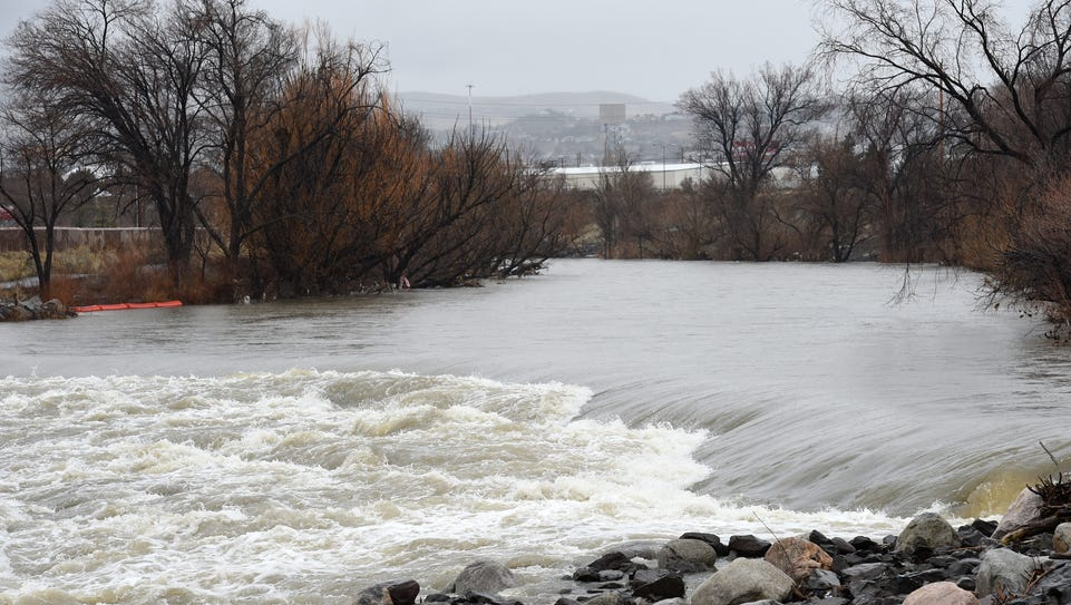 A reversal on the Truckee River is shown Monday, Feb.