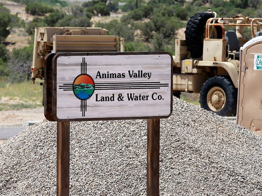 An AV Water Co. sign at 31 County Road 3900 is pictured July 22.