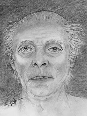 Sketch of a man found on Oct. 9, 2004, in Phoenix.