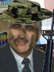 """This doctored portrait of Stafford Mayor John Spodofora was used as the profile photo for the parody Facebook account """"John Spodofora,"""" which was later the subject of a criminal investigation to determine if the mayor was a victim of identity theft. Phil Stilton, an Ocean County journalist with the Shore News Network, is the artist behind the image."""