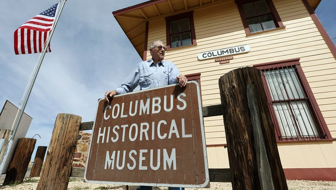 Richard Dean of the Columbus Historical Society helps oversee the historical museum located inside the town's 1902 vintage former train depot. The station is one of several structures in the town that stood when Pancho Villa's forces attacked on March 9, 1916. Dean's Grandfather, James T. Dean, was one of 18 people killed in the attack.