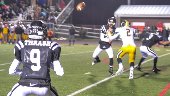 North Buncombe's Ricky Thrash waits for a pass from fellow junior Chase Parker in last week's home loss to Reynolds.