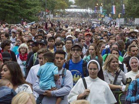 pope crowds