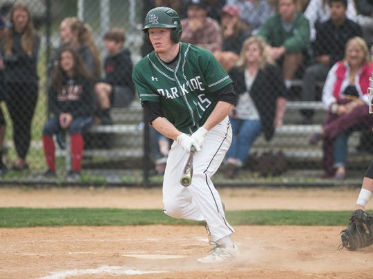 Parkside's Sean Fisher (15) hits the ball during a