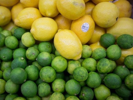 Lemons and limes are among the produce at the South