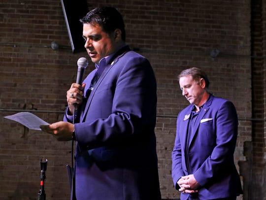 Wichita Falls Mayor Stephen Santellana introduces State