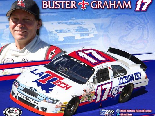 Buster Graham and No. 17 Louisiana Tech stock car.jpg