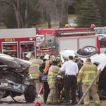 Two injured in head-on crash on M-36