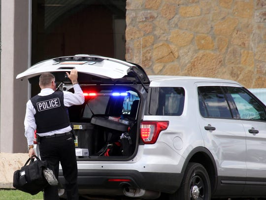Deming Police were collecting evidence during Thursday