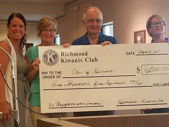 The Richmond Kiwanis Club is donating $6,500 to the