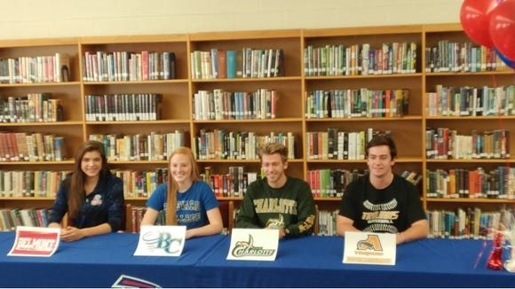 West Henderson held a college signing on Tuesday for