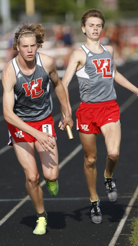 West Lafayette's Cooper Williams and Evan Johnson.