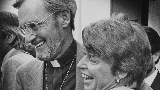 Rev. John Fife III with wife Mariane after being convicted in a sanctuary trial in 1986.