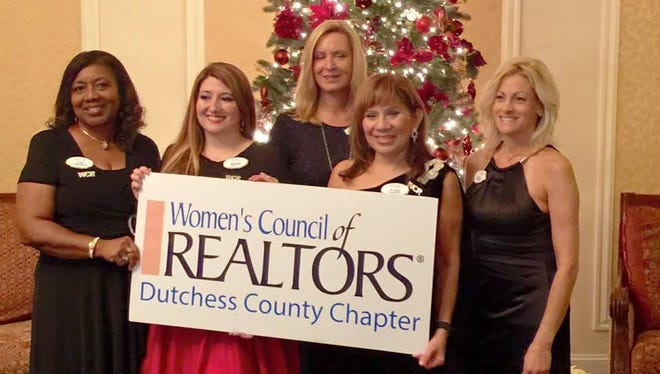 The 2016 Women's Council of Realtors-Dutchess Chapter Board of Elected Officers are President-Elect Rita White, left to right, President Angela Ingham, Secretary Susan Marrinan, Treasurer Gioconda Ruggerio and Vice-President of Membership Yvette Morzillo.