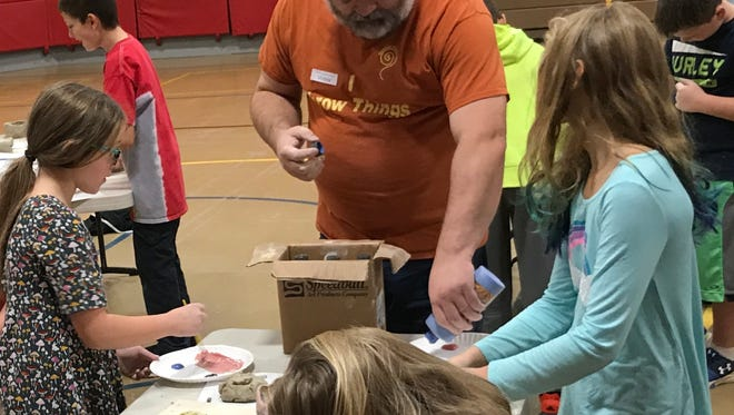 """Potter Jason Laney worked with the students at Turner Elementary during the week of Nov. 13-17, creating original pieces of art from clay. The project was part of the school's 3rd year of their """"Bringing Back the Arts"""" monthly emphasis."""