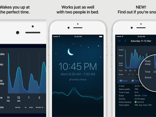 Let your phone analyze your sleep and wake you up in