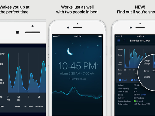 Let your phone analyze your sleep and wake you up in the lightest sleep phase – so you feel refreshed instead of jolted.