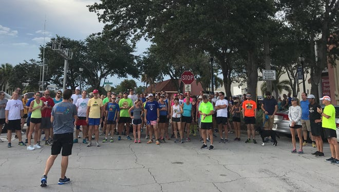 More than 100 runners and walkers showed up last week for the Summer Breweries Tour Fun Run/Walk in downtown Melbourne.