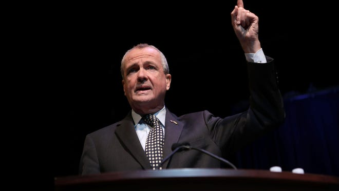 Gov. Phil Murphy speaks at the County of Passaic County Clerk & Board of Chosen Freeholders Swearing In Ceremony in Wayne.  Tuesday, January 8,  2019