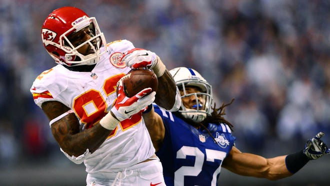 WR Dwayne Bowe is entering his eighth year with the Chiefs.