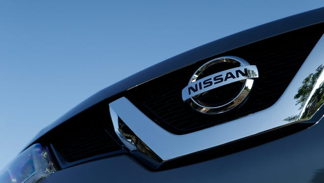 Nissan logo on vehicle grill