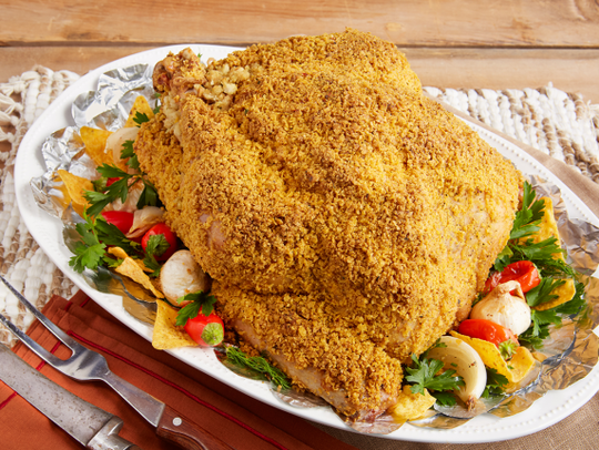 Ranch flavored corn chip encrusted turkey by Reynold's