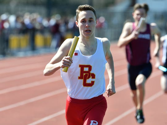 Breadon Fiume of Bergen Catholic runs anchor in the