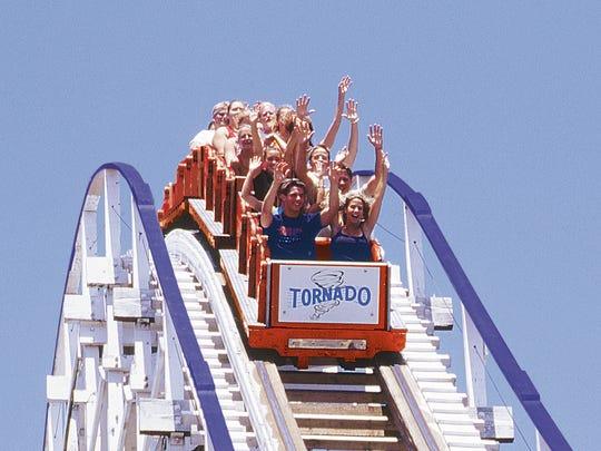 The Tornado at Adventureland in Altoona, Ia.