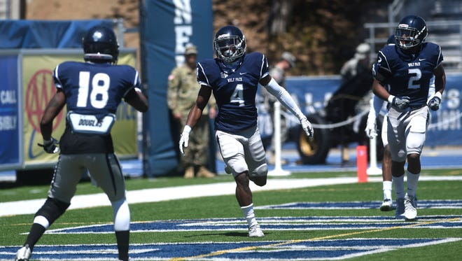 Nevada's EJ Muhammad (4) is looking to play an increased role in the Wolf Pack secondary this season.