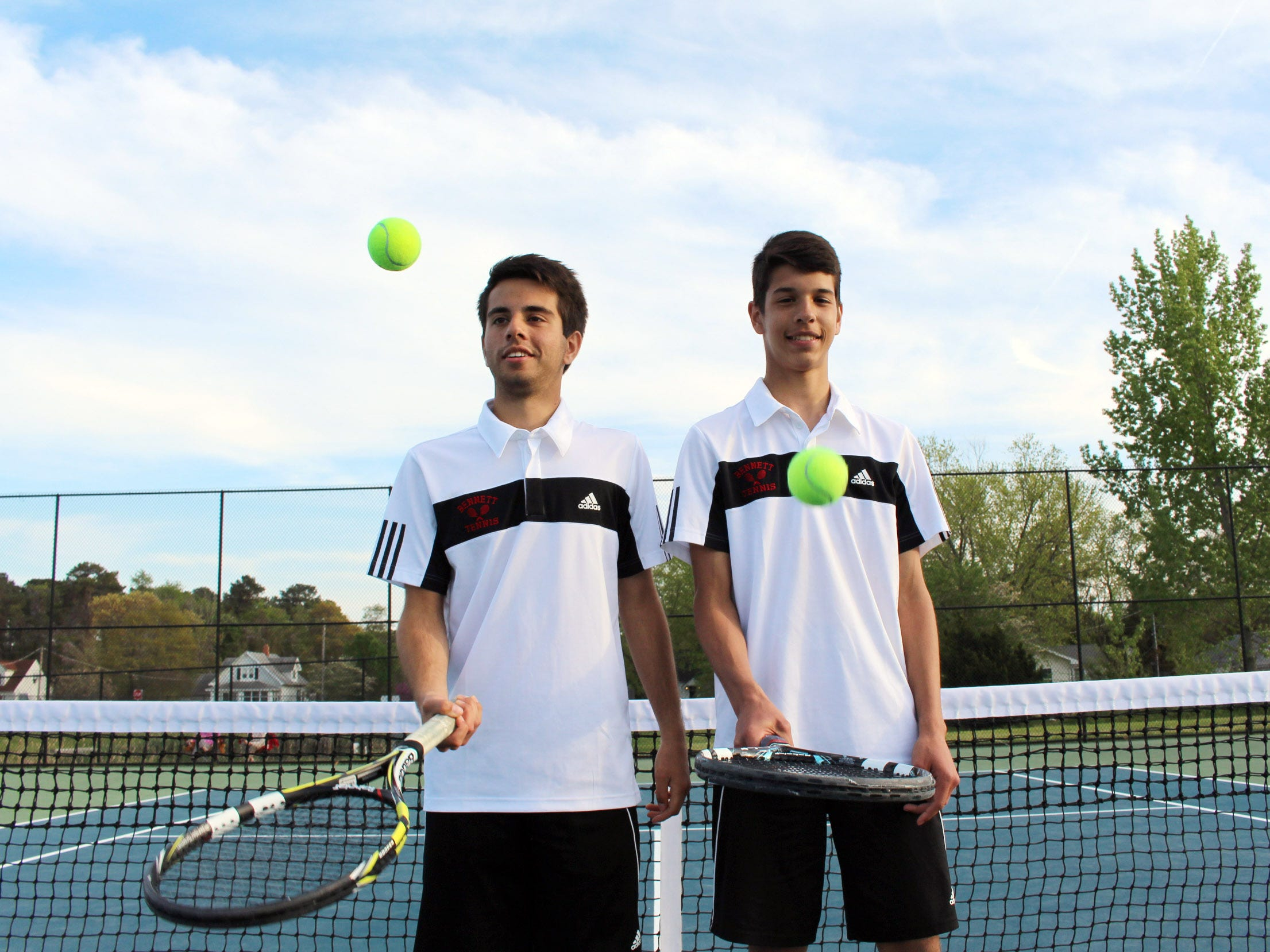 James M. Bennett tennis players and brothers, Kieran Murphy, left, and Luke Murphy, are two important players on the undefeated Clippers' team.
