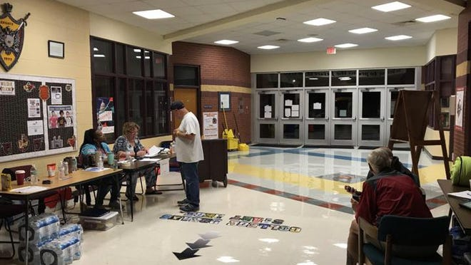 Jacksonville Commons Middle School was transformed into a shelter during Hurricane Dorian. If shelters open this hurricane season, it will be at reduced capacity due to the coronavirus pandemic.
