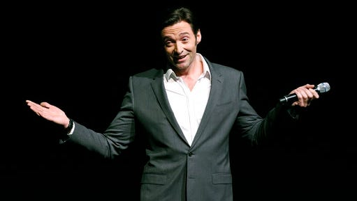 "Hugh Jackman, star of the upcoming film ""The Greatest Showman,"" discusses the film during the 20th Century Fox presentation at CinemaCon 2017 at Caesars Palace on Thursday, March 30, 2017, in Las Vegas."