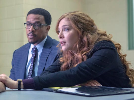 "Russell Hornsby, center, and Rachelle Lefevre, right, portray attorneys who work to overturn wrongful convictions on new Fox series ""Proven Innocent."""