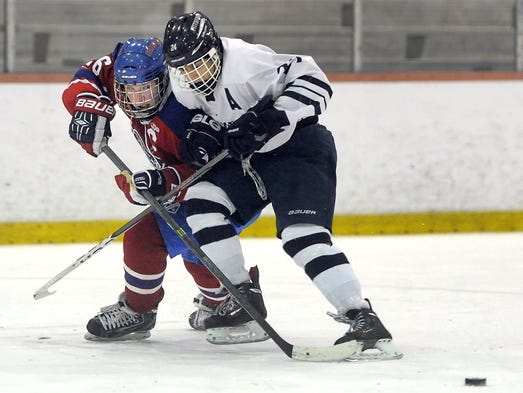 Pittsford defeated Fairport 3-1 in hockey on Saturday.