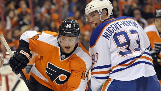 Sean Couturier will likely be matched up against Ryan Nugent-Hopkins like he was last year.