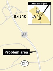 This is the problem area south of the Loganville interchange