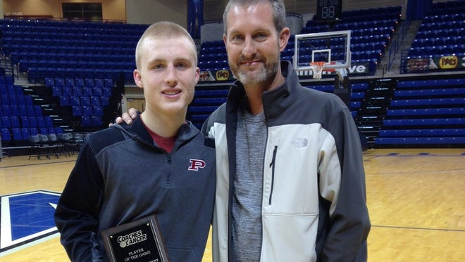 Pisgah senior Cole Anderson and his father, Mark.