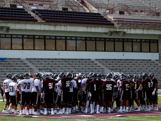 The Missouri State football team wraps up the first