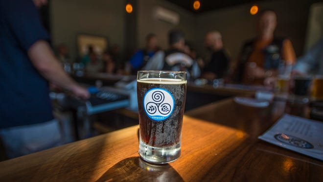 InspiRED, an Irish red ale, at Goodwater Brewery in Williston on Friday, August 5, 2016.