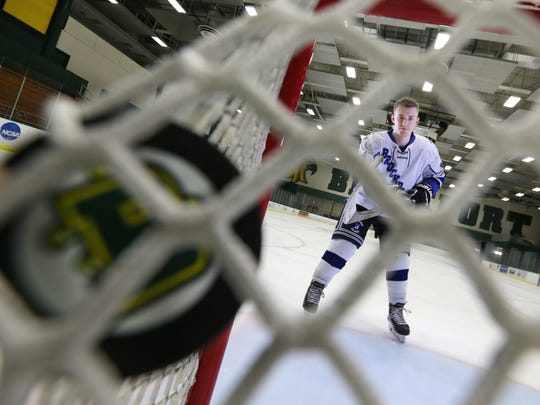 AGR Hockey Player of the Year, Brockport's Maison Fadale.