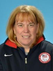 Pamela Fontaine dressed in her U.S. Team Nike gear.