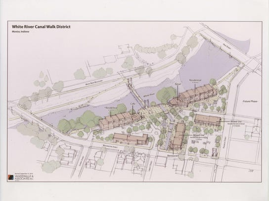 This is an artist's rendering of the proposed riverfront