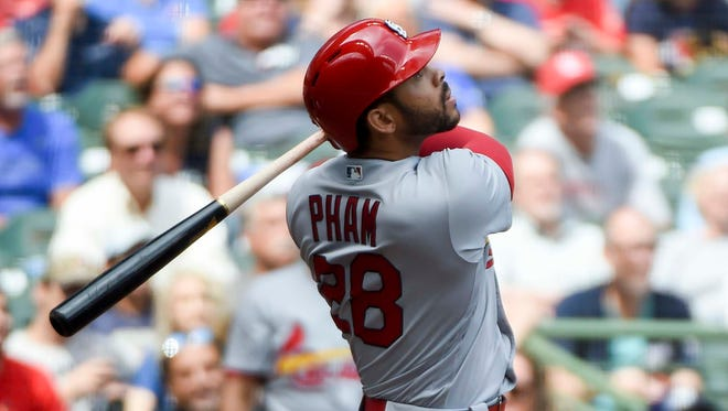 Tommy Pham, with 14 home runs, is traded to the Rays.