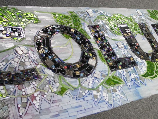 A new mosaic will decorate Columbus Park in Binghamton.