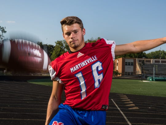 Caleb Urban, kicker, Martinsville High School, part