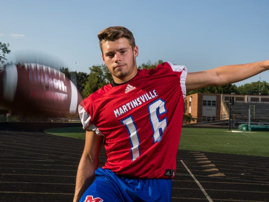 Caleb Urban, kicker, Martinsville High School, part of the IndyStar Super Team for football.