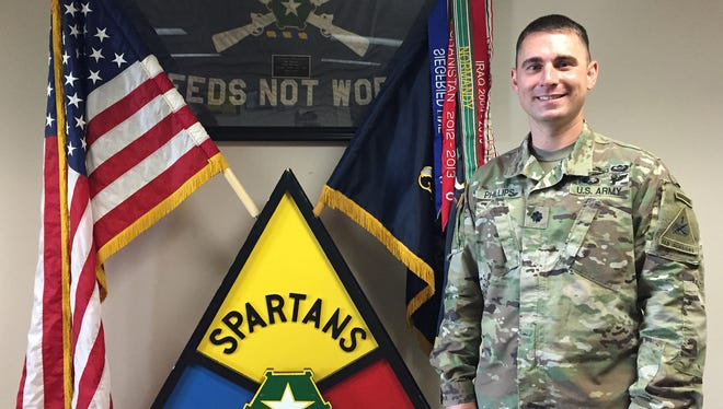 Lt. Col. Stephen C. Phillips is the new commander of 1st Battalion, 36th Infantry Regiment. The Spartans are preparing to go to the National Training Center at Fort Irwin, Calif.
