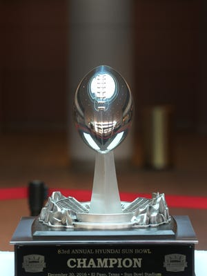 This is the 2016 Hyundai Sun Bowl trophy.