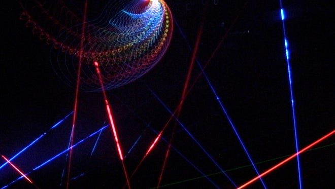 The Planetarium produces their own laser shows.